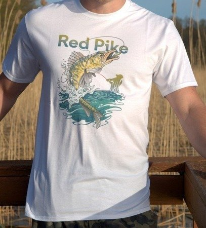 Koszulka T-shirt Dla Wędkarza z Rybą Sandaczem Oryginalny Projekt