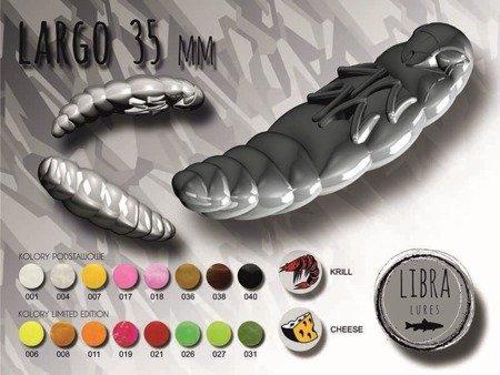 Libra Lures Largo 3,5cm Kolor 040 Black Zapach Cheese op.10szt