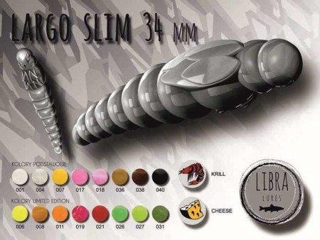 Libra Lures Largo Slim 3,4cm Kolor 017 Bubble Gum Zapach Cheese op.12szt